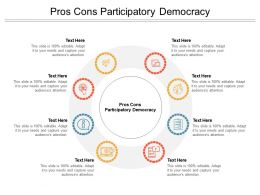 Pros Cons Participatory Democracy Ppt Powerpoint Presentation Slides Cpb