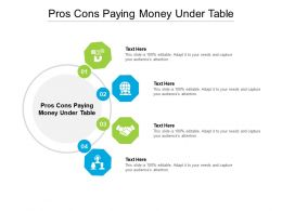 Pros Cons Paying Money Under Table Ppt Powerpoint Presentation Outline Picture Cpb