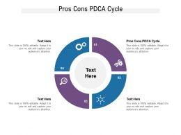 Pros Cons PDCA Cycle Ppt Powerpoint Presentation Layouts Topics Cpb