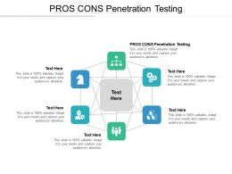 PROS CONS Penetration Testing Ppt Powerpoint Presentation Layouts Shapes Cpb