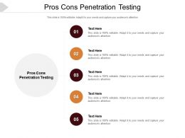 Pros Cons Penetration Testing Ppt Powerpoint Presentation Slides Picture Cpb