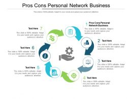 Pros Cons Personal Network Business Ppt Powerpoint Presentation Styles Show Cpb