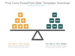 Pros Cons Powerpoint Slide Templates Download