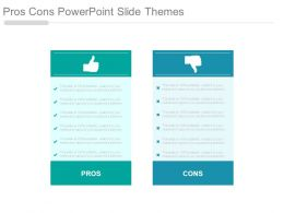 Pros Cons Powerpoint Slide Themes