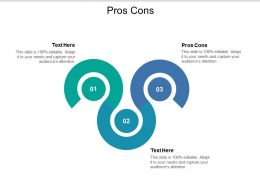 Pros Cons Ppt Powerpoint Presentation Visual Aids Backgrounds Cpb