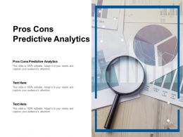Pros Cons Predictive Analytics Ppt Powerpoint Presentation Outline Cpb
