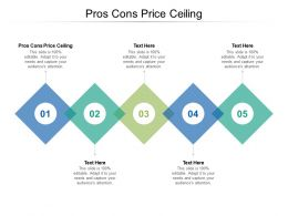 Pros Cons Price Ceiling Ppt Powerpoint Presentation Gallery Sample Cpb