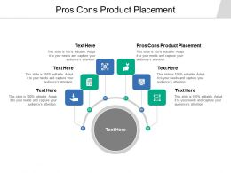 Pros Cons Product Placement Ppt Powerpoint Presentation Infographic Template Slides Cpb