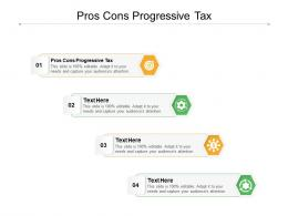 Pros Cons Progressive Tax Ppt Powerpoint Presentation Clipart Cpb