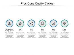 Pros Cons Quality Circles Ppt Powerpoint Presentation Summary Brochure Cpb