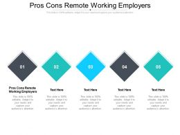 Pros Cons Remote Working Employers Ppt Powerpoint Presentation Visual Aids Outline Cpb