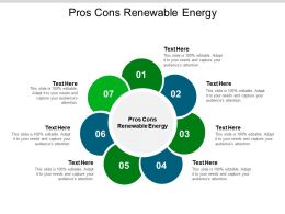 Pros Cons Renewable Energy Ppt Powerpoint Presentation Summary Graphics Pictures Cpb