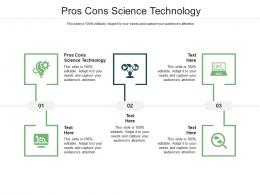 Pros Cons Science Technology Ppt Powerpoint Presentation Professional Structure Cpb