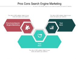 Pros Cons Search Engine Marketing Ppt Powerpoint Presentation Summary Themes Cpb