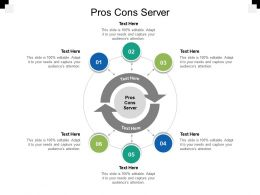 Pros Cons Server Ppt Powerpoint Presentation Summary Show Cpb