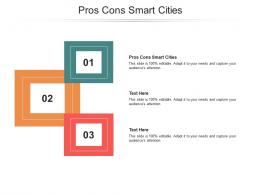 Pros Cons Smart Cities Ppt Powerpoint Presentation Gallery Portrait Cpb
