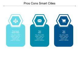 Pros Cons Smart Cities Ppt Powerpoint Presentation Pictures Backgrounds Cpb