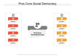 Pros Cons Social Democracy Ppt Powerpoint Presentation Infographic Template Clipart Cpb