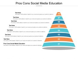 Pros Cons Social Media Education Ppt Powerpoint Presentation Show Graphics Tutorials Cpb