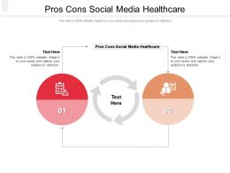 Pros Cons Social Media Healthcare Ppt Powerpoint Presentation Portfolio Mockup Cpb