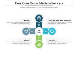 Pros Cons Social Media Influencers Ppt Powerpoint Presentation Portfolio Format Ideas Cpb