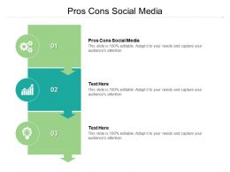 Pros Cons Social Media Ppt Powerpoint Presentation Icon Background Image Cpb