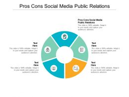 Pros Cons Social Media Public Relations Ppt Powerpoint Presentation File Infographic Template Cpb