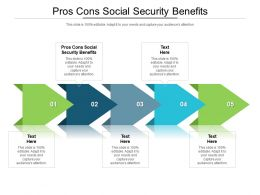 Pros Cons Social Security Benefits Ppt Powerpoint Presentation Gallery Elements Cpb