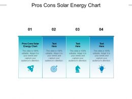 Pros Cons Solar Energy Chart Ppt Powerpoint Presentation Outline Graphics Design Cpb