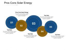 Pros Cons Solar Energy Ppt Powerpoint Presentation Ideas Diagrams Cpb