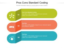 Pros Cons Standard Costing Ppt Powerpoint Presentation Summary Ideas Cpb