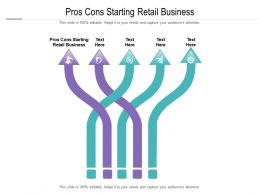 Pros Cons Starting Retail Business Ppt Powerpoint Presentation Visual Aids Files Cpb