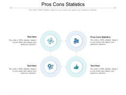 Pros Cons Statistics Ppt Powerpoint Presentation Pictures Slide Download Cpb