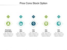 Pros Cons Stock Option Ppt Powerpoint Presentation Ideas Structure Cpb