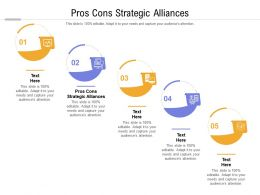 Pros Cons Strategic Alliances Ppt Powerpoint Presentation Pictures Slide Download Cpb