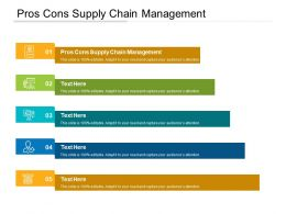 Pros Cons Supply Chain Management Ppt Powerpoint Presentation Layouts Visual Aids Cpb