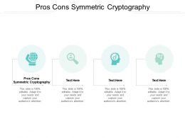 Pros Cons Symmetric Cryptography Ppt Powerpoint Presentation Slides Show Cpb