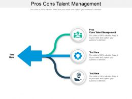 Pros Cons Talent Management Ppt Powerpoint Presentation Show Good Cpb