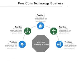 Pros Cons Technology Business Ppt Powerpoint Presentation Ideas Example Topics Cpb