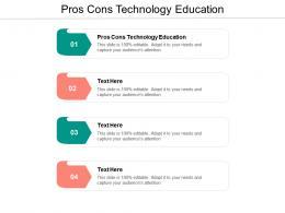 Pros Cons Technology Education Ppt Powerpoint Presentation Ideas Design Ideas Cpb