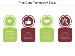 Pros Cons Technology Essay Ppt Powerpoint Presentation Infographic Slide Cpb
