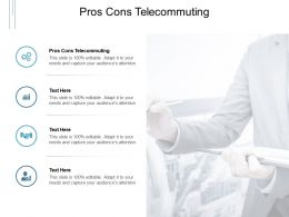 Pros Cons Telecommuting Ppt Powerpoint Presentation Portfolio Introduction Cpb