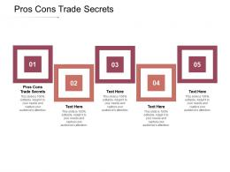 Pros Cons Trade Secrets Ppt Powerpoint Presentation Professional Smartart Cpb