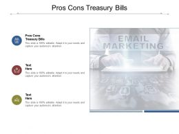 Pros Cons Treasury Bills Ppt Powerpoint Presentation Slides Clipart Images Cpb