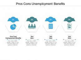 Pros Cons Unemployment Benefits Ppt Powerpoint Presentation Images Cpb