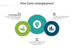 Pros Cons Unemployment Ppt Powerpoint Presentation Professional Objects Cpb