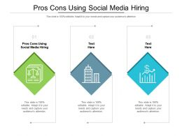 Pros Cons Using Social Media Hiring Ppt Powerpoint Presentation Gallery Show Cpb