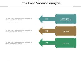 Pros Cons Variance Analysis Ppt Powerpoint Presentation Slides Portfolio Cpb