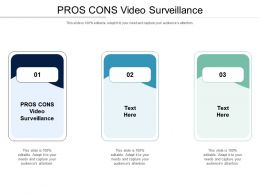 PROS CONS Video Surveillance Ppt Powerpoint Presentation Icon Cpb