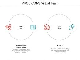 PROS CONS Virtual Team Ppt Powerpoint Presentation Model Designs Cpb